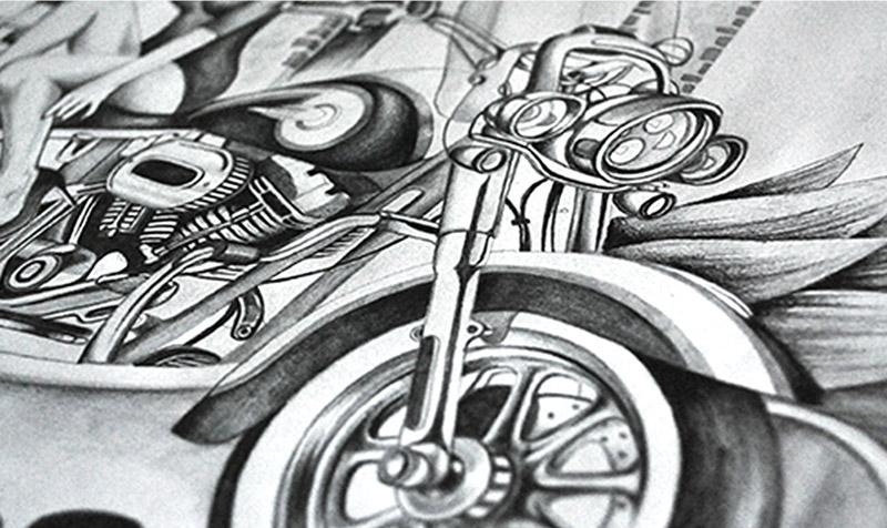 Ilustración Harley-Davidson